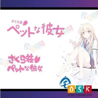 Pegatina Anime Cartoon Car Sticker sakurasou no pet na kanojo logo Vinyl Wall Sticker Decal Decor