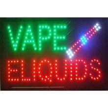 2017 New arriving super bright led open sign neon board indoor use Vape E-liquid