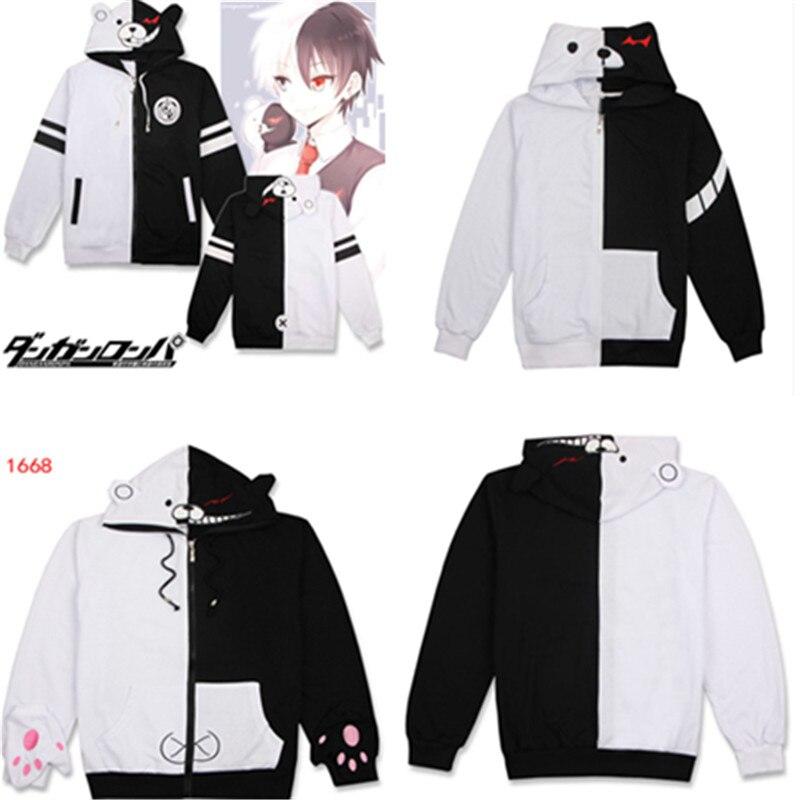 Danganronpa-sweat-shirt, Costume Happy Havoc Anime, capuche Cosplay, Monokuma, veste, printemps et automne, décontracté