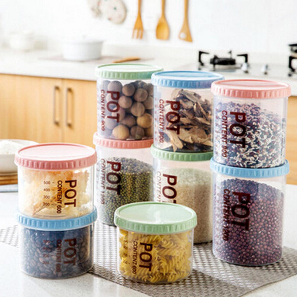 Kitchen Snack Transparent Storage Box Storage Cans  Plastic Food Whole Grains Storage Tank Sealed Cans