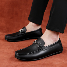 2018 new Men Loafers Moccasins Genuine Leather Mens  Slip On Male Casual Driving Shoes 5