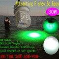 IP68 Подводный СВЕТОДИОДНЫЕ Рыба Привлечения Рыбная Ловля Света 30 Вт Светло-Рыболовные Приманки Для Рыбалки Лодка