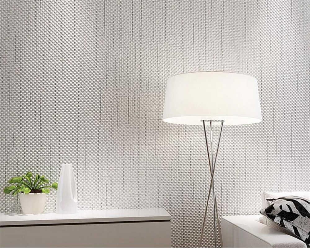 Papier Peint Chambre Moderne beibehang 3d papier peint couleur pure plaine moderne linge tissu chambre  papier peint salon bureau design papier peint pour murs 3 d