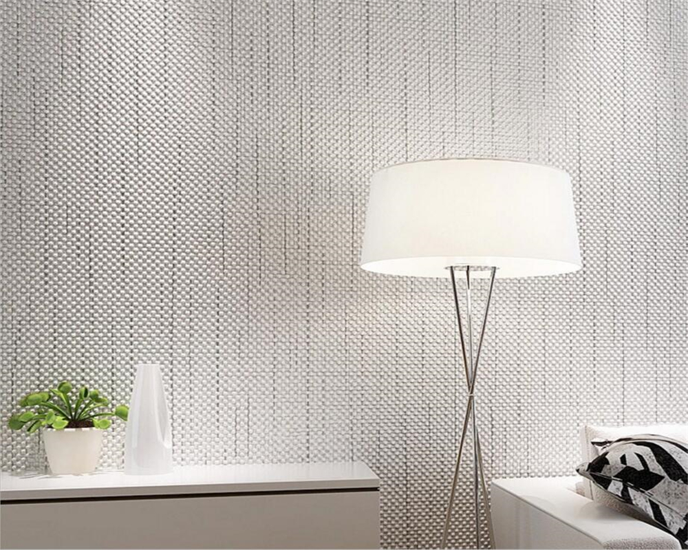 Beibehang 3d wallpaper pure color plain modern linen cloth Plain white wallpaper for walls