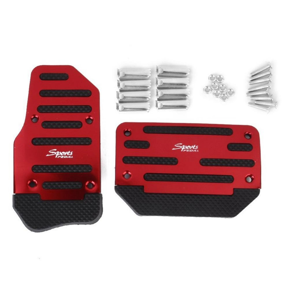 Brake Accelerator DIY Alloy Nonslip Safety Pedal for Automatic Car Vehicles