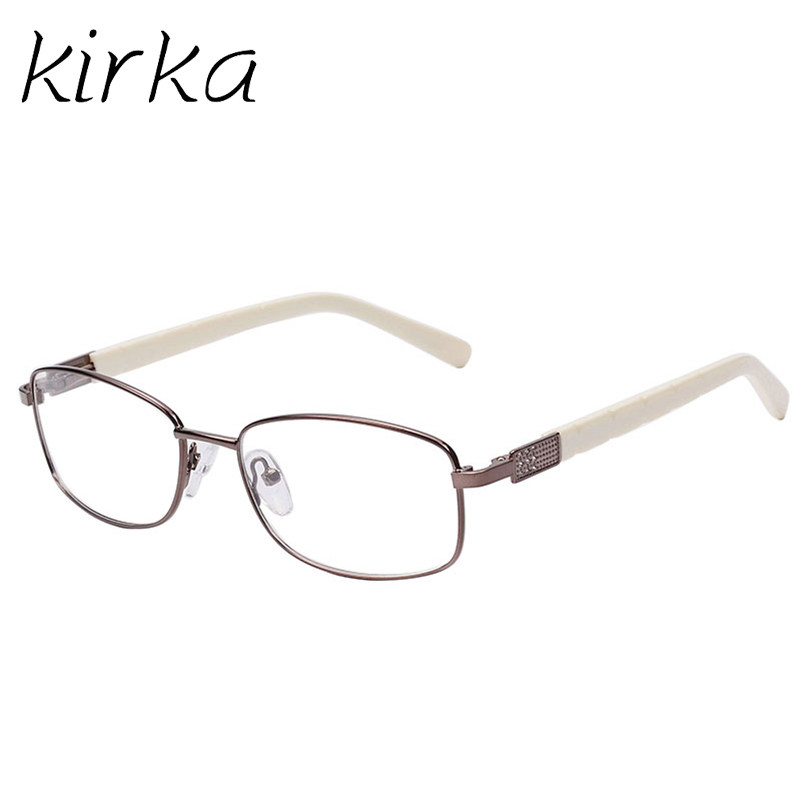 kirka makeup brown and white temple glasses frame women branding glasses with clear lenses square retro