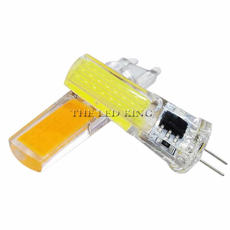 Bombilla LED G4 G9 atenuación CA/CC 12V 220V 3W 6W COB SMD luces LED reemplazar lámpara halógena