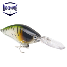 Купить с кэшбэком Crank Bait Long Lip Vibration Wobblers Sinking Fishing Lures 7cm 17.8g Pesca Tackle 3D Laser Eyes Topwater Artificial Crankbait