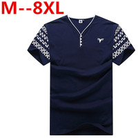 Plus 10XL 9XL 8XL 7XL 6XL 5XL 4XL Summer New Men S Short Sleeved V Neck