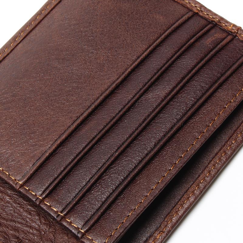 TAUREN RFID BLOCKING Nya snygga herrplånbok Äkta Cow Leather Male - Plånböcker - Foto 5