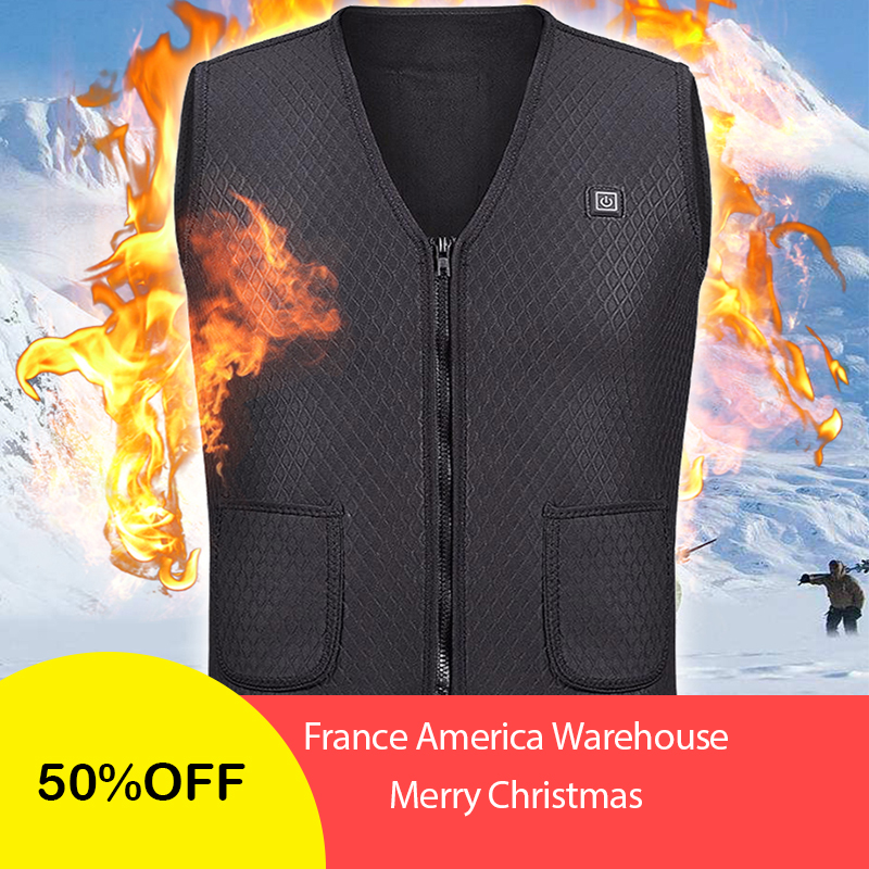 2018 New Men Women Electric Heated Vest Heating Waistcoat USB Thermal Warm Cloth Feather Hot Sale winter women's clothing