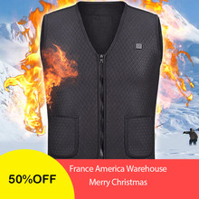 2018 New Men Women Electric Heated Vest Heating Waistcoat USB Thermal Warm Cloth Feather Hot Sale winter women's clothing(China)
