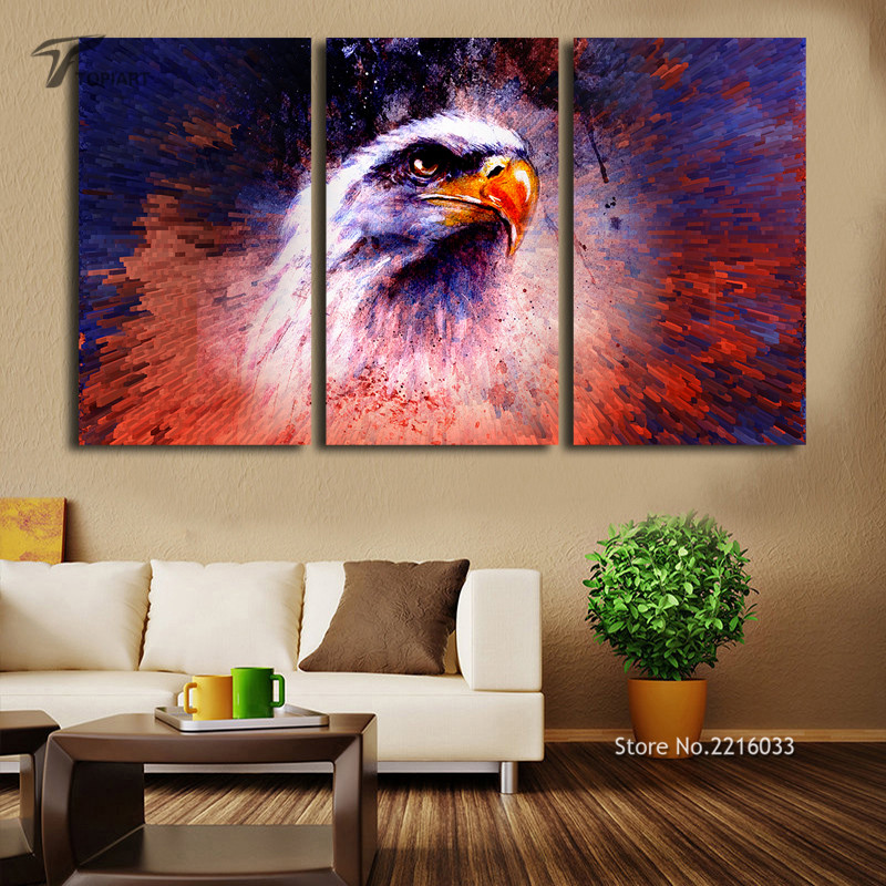 Aliexpress.com : Buy Unframed The Eagle Wall Art Canvas Home Decor Abstract  Color Splash Canvas Print Large Paintings For Meeting Living Room Office  From ...