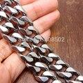 """Venta al por mayor 24 """" 12.5 MM pesado Silver Cool acero inoxidable 316L hombres de acoplamiento de cadena del encintado del collar"""