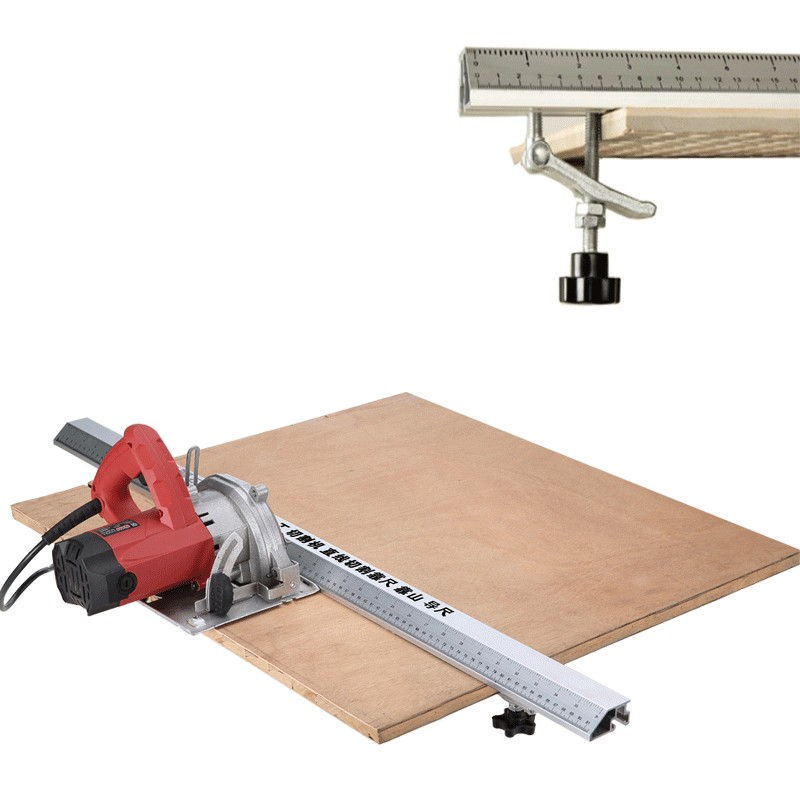 3 In 1 45 Degrees Chamfer Fixture Electric Circular Saw Cutting Machine Guide Foot Ruler Guide Woodworking Tools