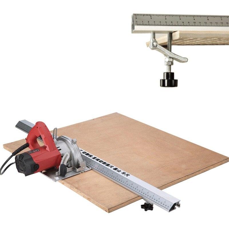3 en 1 45 degrés chanfrein luminaire électrique scie circulaire Machine de découpe Guide pied règle Guide outils de travail du bois