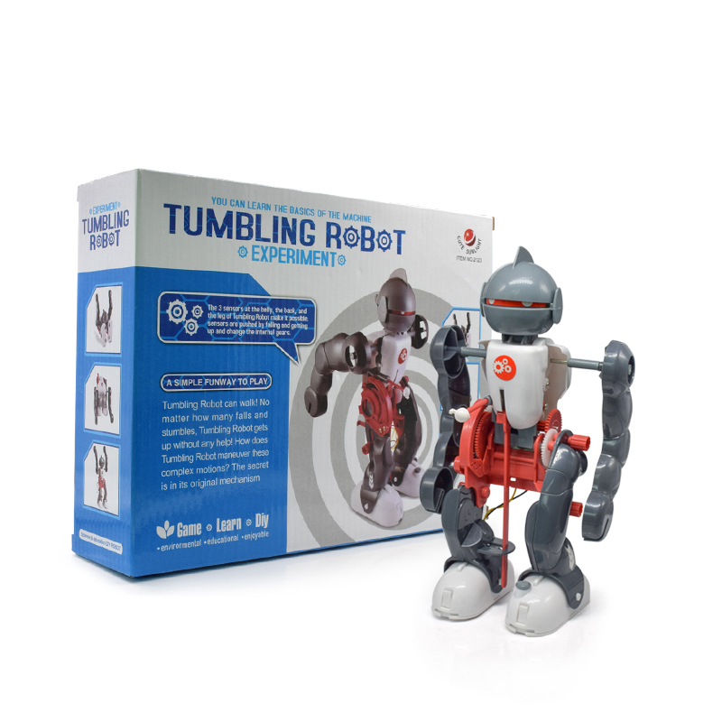 DIY Electric Tumbling Dacing Robot Model 3-Mode Assembly Robot Creative Science Kit Educational Kit