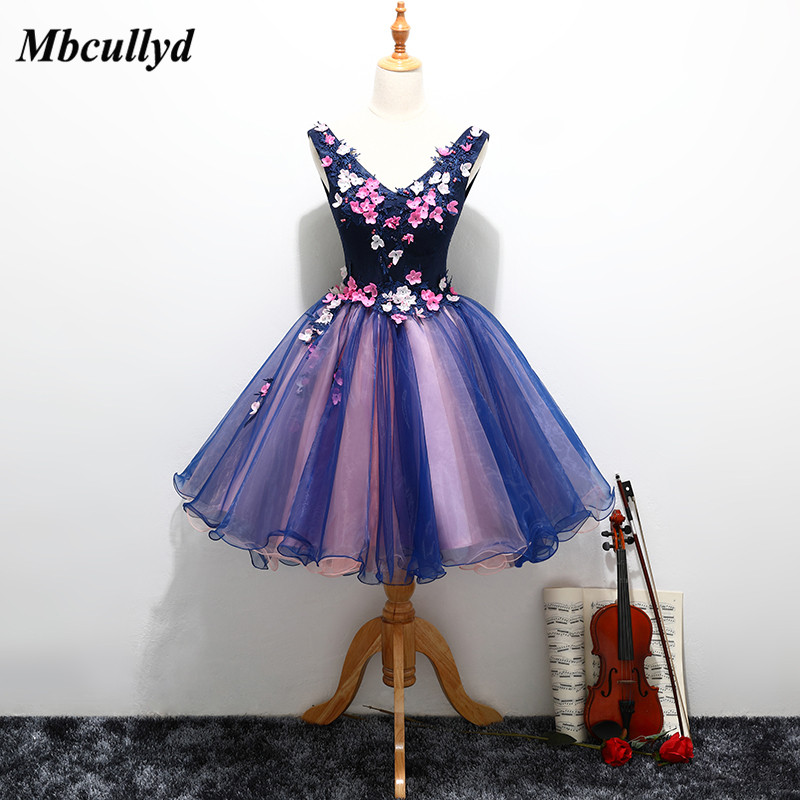 Mbcullyd Short Purple   Bridesmaid     Dresses   2018 Plus Size A Line Sweetheart Tulle   Dress   For Wedding Party Cheap Maid Of Honor Gown