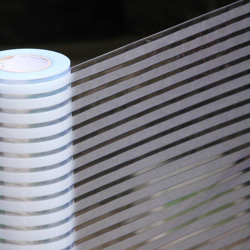 Electrostatic Scrub Stripe Decoration Glue-free Office Glass Foil Window Balcony Light Translucent Glass Sticker