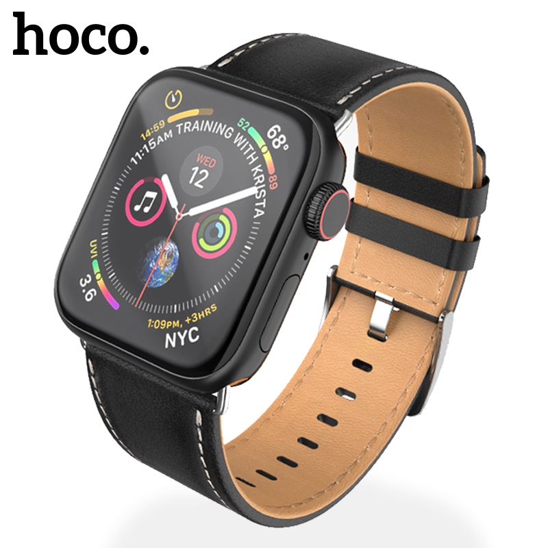 HOCO Original Genuine Leather Bands for Apple Watch Series 4 3 2 1 iWatch  44mm 40mm 42mm 38mm Cowhide Strap
