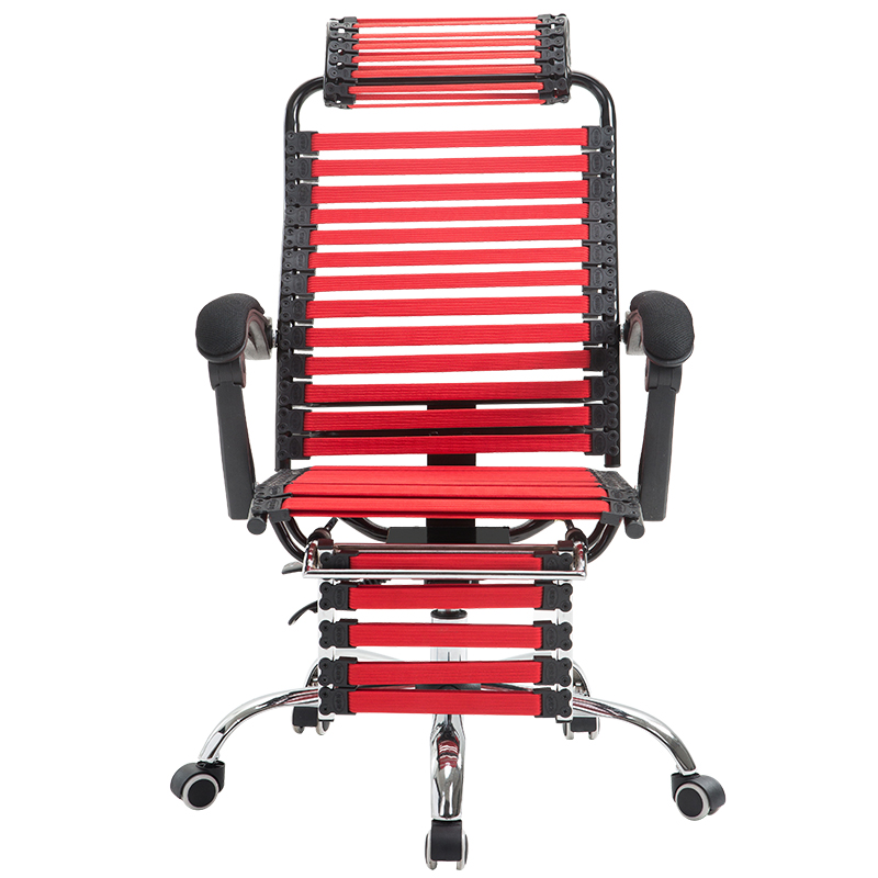 Creative Computer Chair Lifted And Rotated Rubber Band Stool With Footrest Reclining Household Health Chair Office Staff Seat
