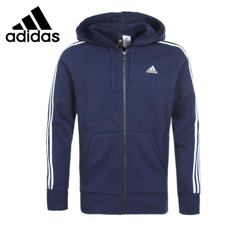 Original New Arrival  Adidas Performance ESS 3S FZ Mens  jacket Hooded SportswearOriginal New Arrival  Adidas Performance ESS 3S FZ Mens  jacket Hooded Sportswear