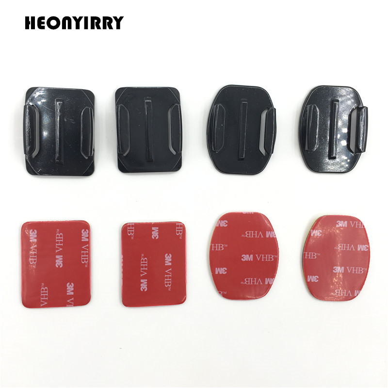 For Go pro Accessories Sticker Flat Curved Adhesive 3M VHB Mount surfboard surfaced helmets for GoPro HD Hero 3+ 4 for Xiaomi Yi justone j029 3m vhb safety tether for gopro hero 4 3 3 2 1 sj4000 blue red