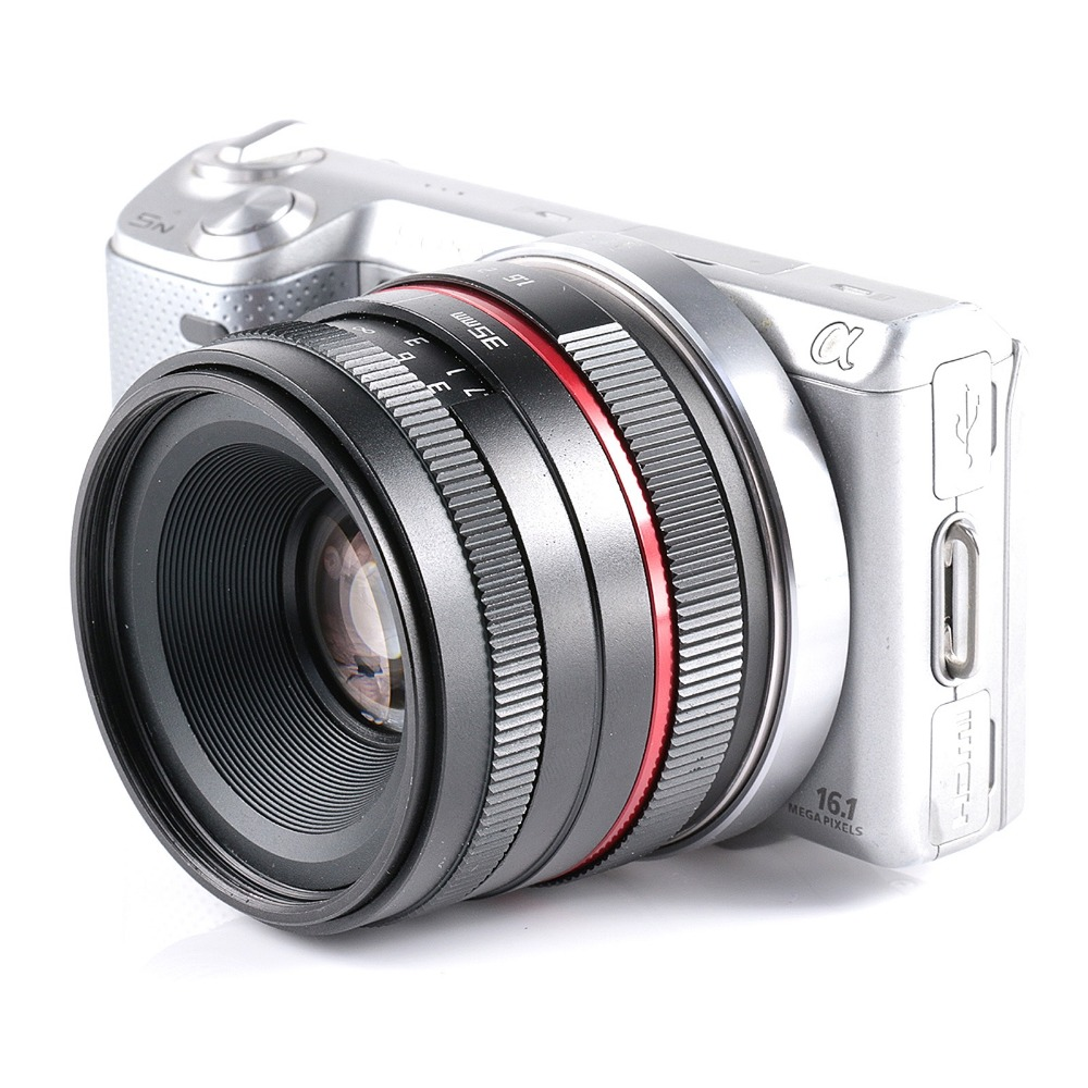 35mm F1 6 small wide angle manual Aps c camera lens for Sony E Mount NEX