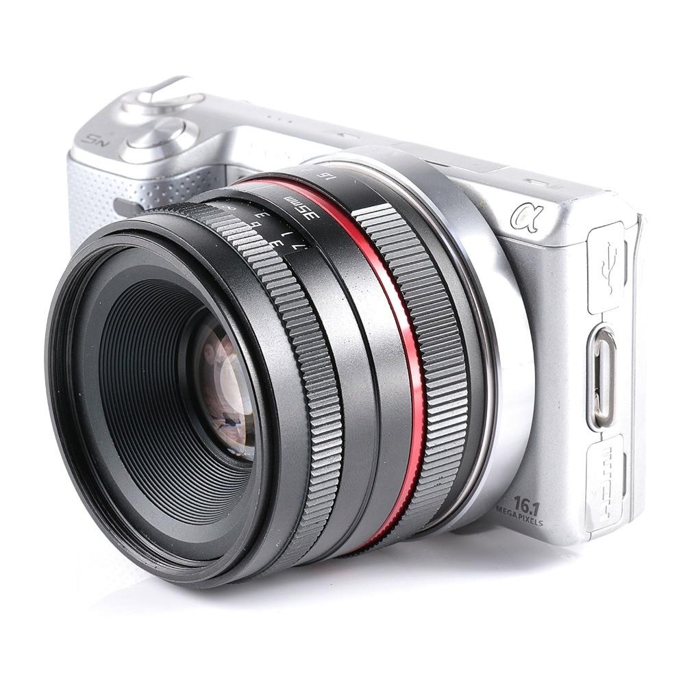 35mm F1.6 pequeño ángulo manual Aps-c para lente de la cámara Sony E montaje NEX 5 t A6300 A6000 A5100