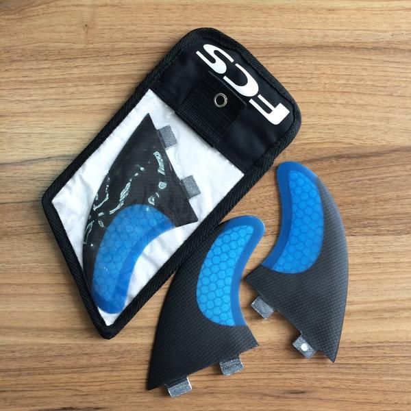 Nouvelle planche de surf bleue Sexy en carbone et fibre de verre Fcs G7 Fin avec sacs