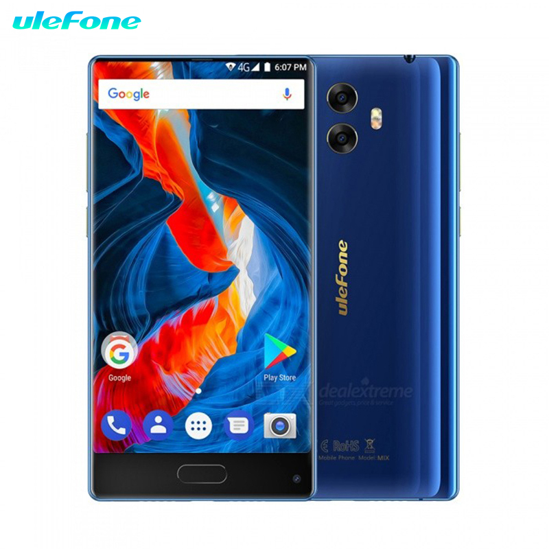 Ulefone Mix 4G Phablet Android 7.0HD Smartphone sans lunette 5.5 pouces MTK6750T Octa Core 1.5 GHz 4 GB RAM 64 GB ROM 13.0MP arrière Camer