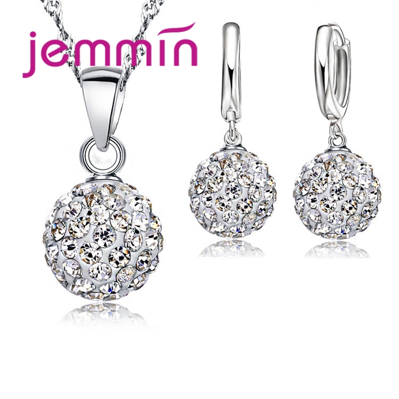 064a4d7ac4 JEMMIN New Fashion Big Promotion 925 Sterling Silver Crystal Jewelry  Necklace Pendant Earring Cubic Zirconia For Women Bridal ~ Free Shipping  July 2019