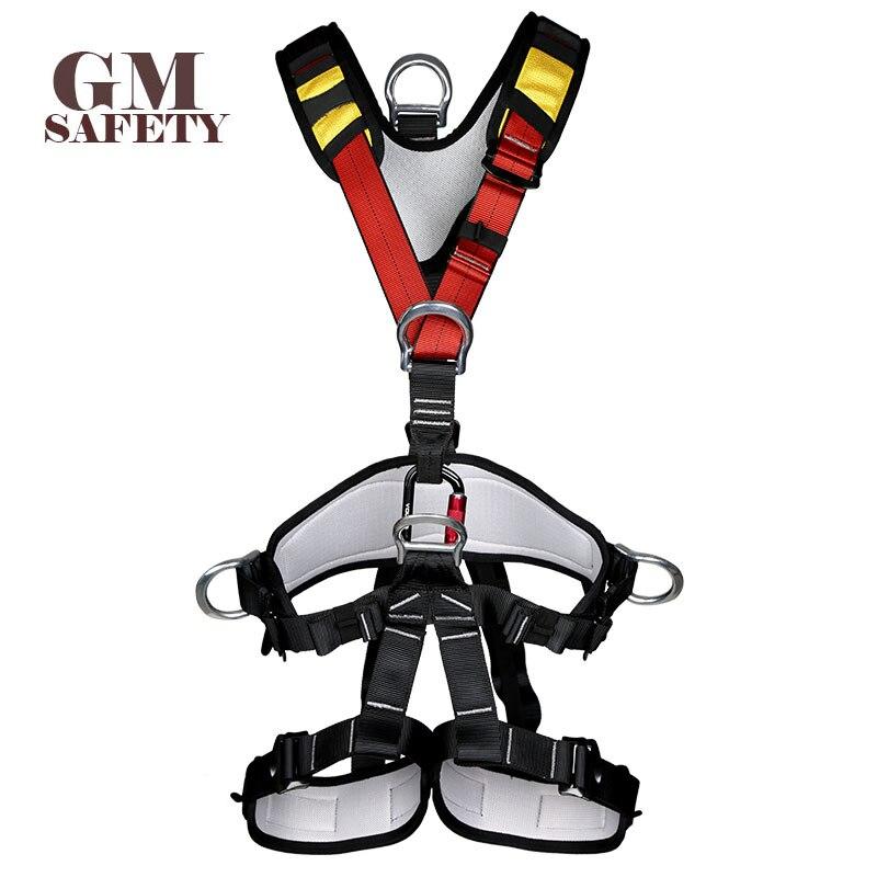 Cinturón de seguridad corporal para operación de alta altitud escalada roca rescate cuerpo arnés de seguridad cómodo seguro equipo de escalada en roca