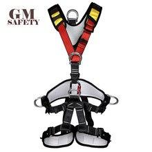 Corpo Cintura di Sicurezza per il Funzionamento Ad Alta Quota Arrampicata Su Roccia di Salvataggio Attrezzature Arrampicata Imbracatura di Sicurezza Del Corpo Sicuro E Confortevole