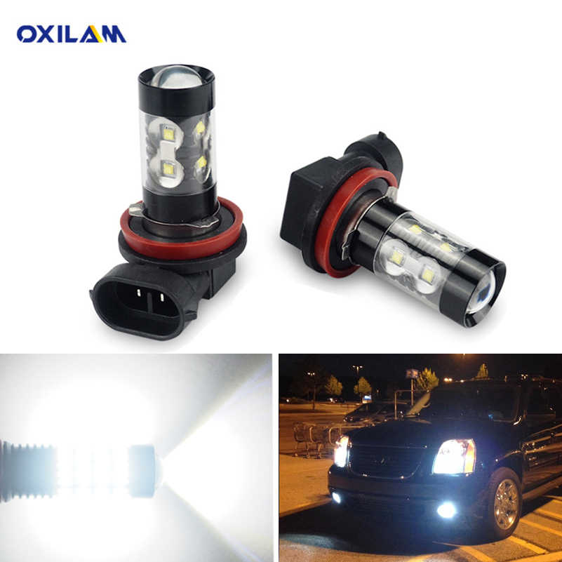 Oxilam 2x Canbus Hb4 Led Fog Light Bulbs H11 H8 Led Bulbs