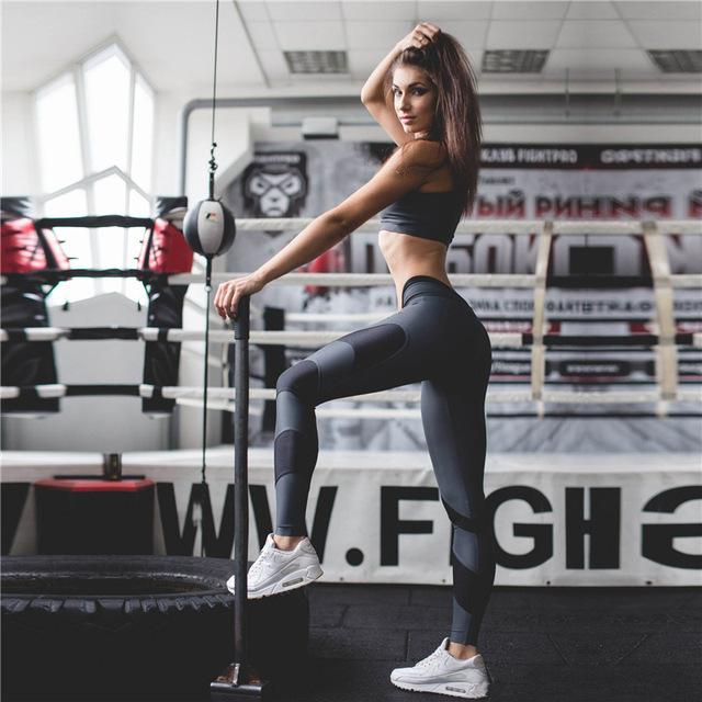 Calcular legging mujeres pantalones de chándal ropa de entrenamiento de fitness legging para las mujeres chándal mujer sexy pantalones de cintura alta T525