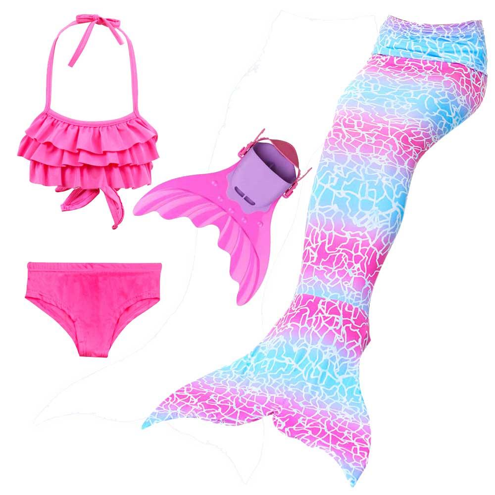 Meerjungfrau Schwänze Für Schwimmen Cosplay 3-12 Jahre Mädchen Swimmable Mermaid Tails Bikini Anzug Und Sharkle Schwimmen Fin Badeanzug