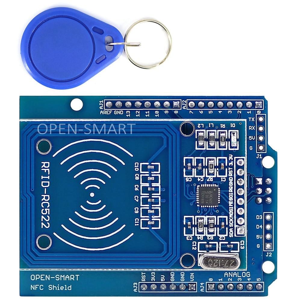 NFC щит RFID RC522 модуль RF IC карта сенсор + S50 RFID смарт-карта для Arduino UNO / Mega2560
