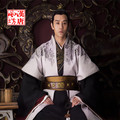 Male hanfu customer service  TV Play General Traditional Hanfu Costume in Wei Shu Wu  Kingdoms Black Red General Costume