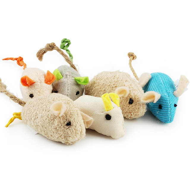 6pcs lot Random Mix Pet Toy Catnip Mice Cats Toys Fun Plush Mouse Cat Toy For