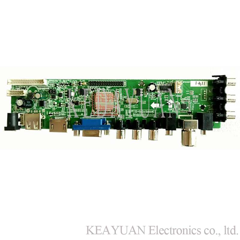 Free Shipping  DS.D3663LUA.A81 DVB-T2 Digital TV Drive Board.(China)