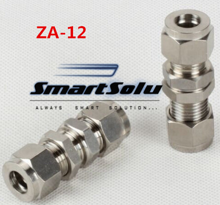 Free shipping Passthrough Stainless Steel Connector Fitting, ZA-12 Thread, Homebrew Fitting,Straight terminal fittings free shipping of 1pc hss 6542 full cnc grinded machine straight flute thin pitch tap m37 for processing steel aluminum workpiece
