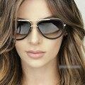 Óculos de Sol da moda Óculos de Sol Das Mulheres 2016 Marca de Luxo Designer Para Senhoras Revestimento UV400 Lente Espelho Do Vintage Feminino Oculos RS229