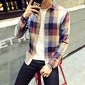 Men Long Sleeve Shirt Chemise Homme Men Plaid Shirt Camisas Hombre Vestir Mens Dress Shirts Hawaiian Camisa Social Masculina 5XL