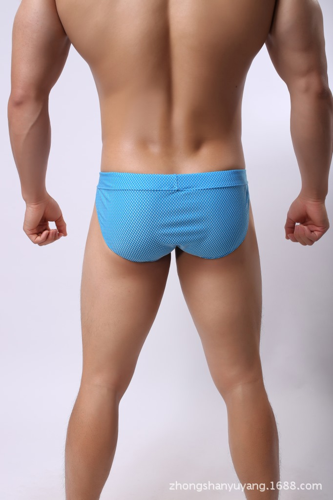 c67c18d45cd01 US $8.53 14% OFF|GXQIL Man Swimwear Short Men Beach Shorts 2018 Men Sexy  Soft Swimsuits Swimming Briefs Bathing Trunks Solid Underpants Blue S XL-in  ...