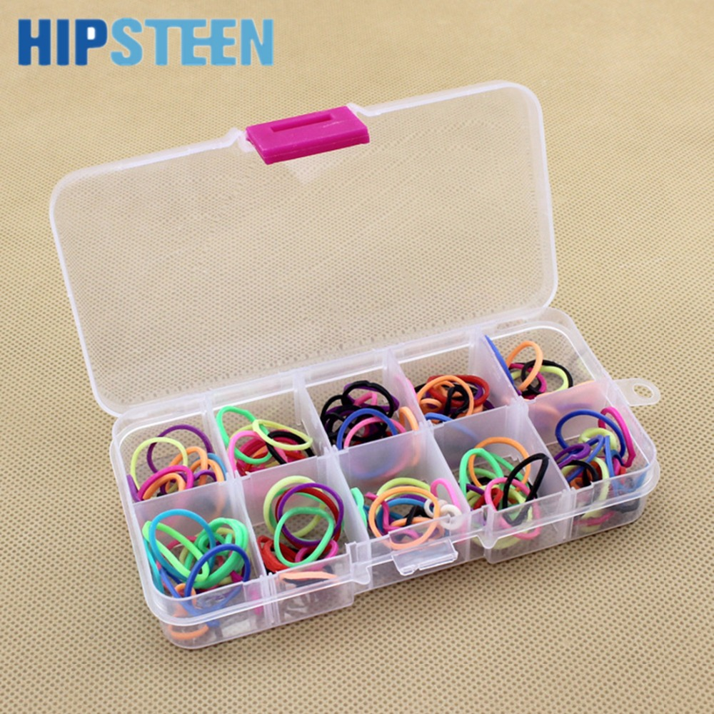 HIPSTEEN 10 Slots Adjustable Clear PP Storage Box Case Container Organizer for Cosmetics Jewelry Beads Sewing Pills Fishing Gear