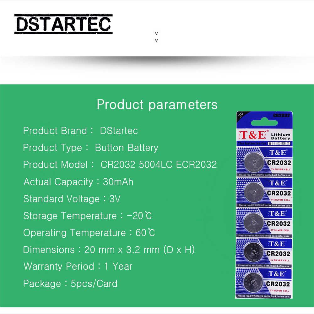 5pcs 30mAh Cell Coin Button Batteries CR2032 DL2032 CR 2032 KCR2032 5004LC ECR2032  3V Lithium Battery For Watch Toys LED Light