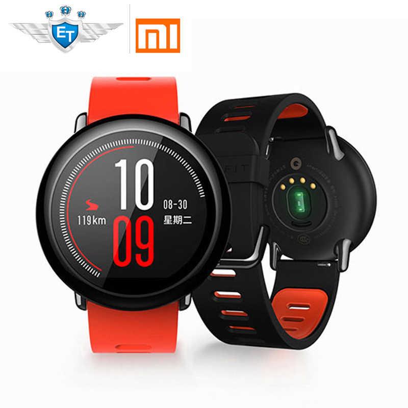 134edb247b62 Глобальная версия Xiaomi Huami AMAZFIT темп gps бег Смарт часы Bluetooth 4,0  спортивные монитор