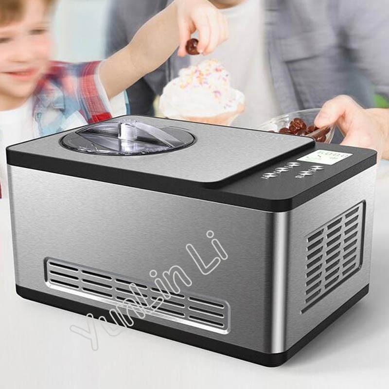 Homemade Ice Cream Maker Household Intelligent Ice Cream Machine Stainless Steel Fast Freezing Equipment IC2308C silicone quick freezing ice bucket