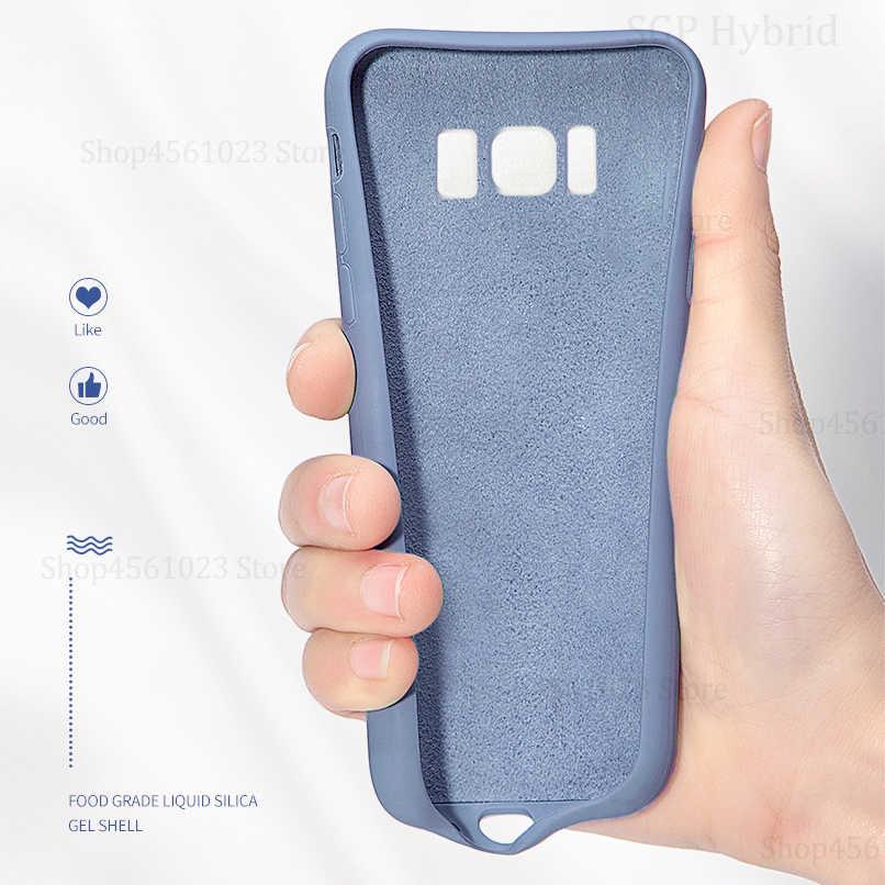 Verano funda de silicona líquida para Samsung Galaxy A30 A50 A40 A20 A70 M10 M20 M30 cubierta funda para Samsung Glaxy A30 A50 A70 M20